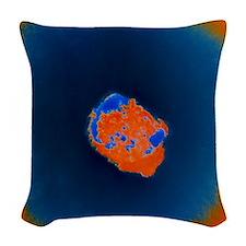 Smallpox virus Woven Throw Pillow