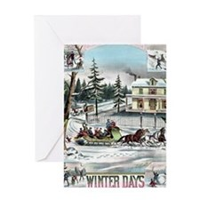 Winter Days Greeting Card