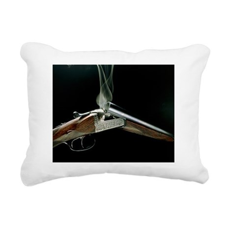 Smoking shotgun Rectangular Canvas Pillow