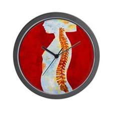 Artwork of spine on profile of a young  Wall Clock