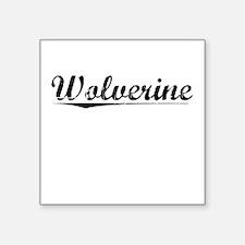 """Wolverine, Vintage Square Sticker 3"""" x 3"""""""