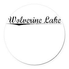 Wolverine Lake, Vintage Round Car Magnet