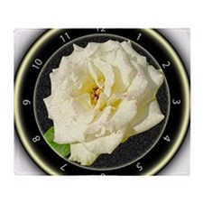 White Rose Throw Blanket