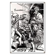 16th century woodcut showing leg amputation Banner