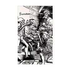 16th century woodcut showing l Decal