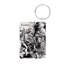 16th century woodcut showi Keychains