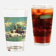 American winter life Drinking Glass
