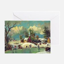 American winter life Greeting Card