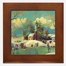 American winter life Framed Tile