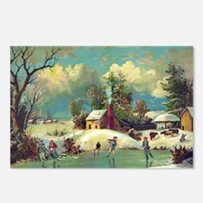 American winter life Postcards (Package of 8)