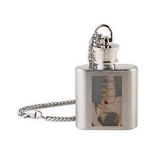 Slipped disc Flask Necklace