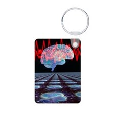 Abstract artwork of human  Keychains