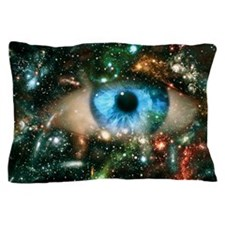 Abstract computer graphic of an eye on Pillow Case