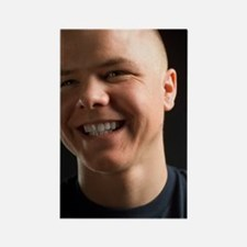 Smiling man Rectangle Magnet