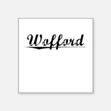 "Wofford, Vintage Square Sticker 3"" x 3"""