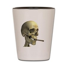 Smoking skeleton Shot Glass