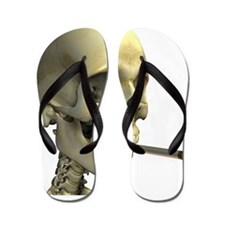 Smoking skeleton Flip Flops