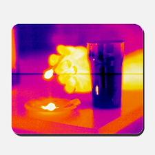 Smoking and drinking, thermogram Mousepad