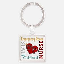 ER Nurse Square Keychain