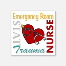 "ER Nurse Square Sticker 3"" x 3"""