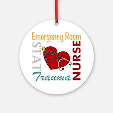 ER Nurse Round Ornament