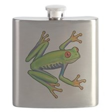 Green Frog Flask