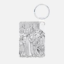 15th century woodcut showi Keychains