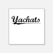 "Yachats, Vintage Square Sticker 3"" x 3"""