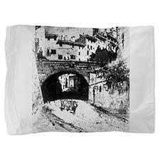 Archway, Siena - Joseph Pennell - 1883 Pillow Sham