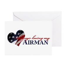 Always loving my airman Greeting Cards (Package of