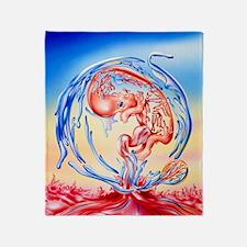 Abstract artwork of genetic developm Throw Blanket