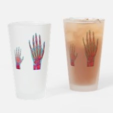 Adult and child hand X-rays Drinking Glass