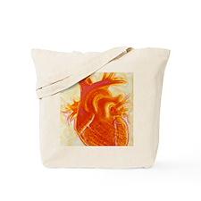 Artwork of a healthy human heart Tote Bag