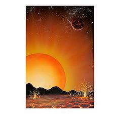 Alien landscape, artwork Postcards (Package of 8)