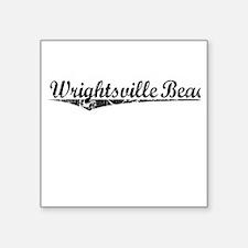 """Wrightsville Beach, Vintage Square Sticker 3"""" x 3"""""""