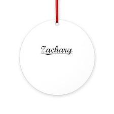 Zachary, Vintage Round Ornament