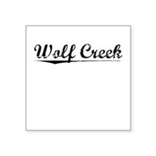 "Wolf Creek, Vintage Square Sticker 3"" x 3"""