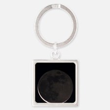 27 day old moon with earthshine Square Keychain