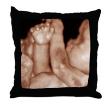 3-D foetal ultrasound Throw Pillow