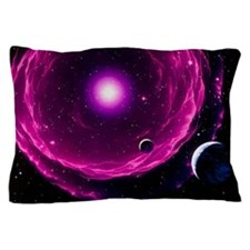 Artwork of a future Sun ejecting plane Pillow Case