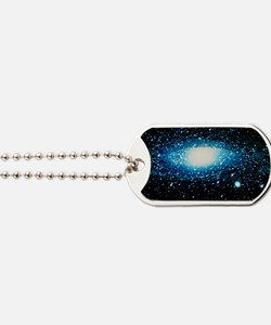 Andromeda Galaxy with brightness contour  Dog Tags