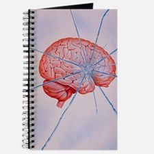 Artwork of brain with shattered glass supe Journal