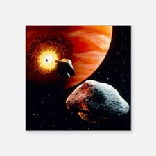 "Artwork of first comet impa Square Sticker 3"" x 3"""