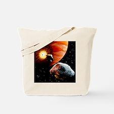 Artwork of first comet impacts on Jupiter Tote Bag