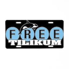 Free Tilikum Original Aluminum License Plate