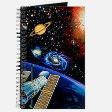 Artwork of Hubble Space Telescope over Ear Journal