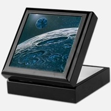 Artwork of ice in craters on the Moon Keepsake Box