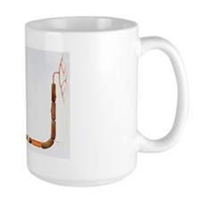 Artwork of human motor neuron (nerve ce Mug