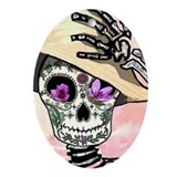 Day of the dead christmas Oval Ornaments