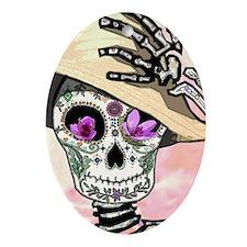 Sunny Skeleton Oval Ornament